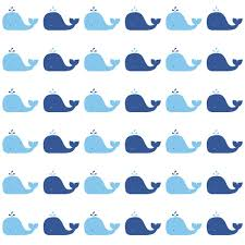 whales removale wallpaper nursery