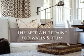 best white paint color for walls and trim the decorologist
