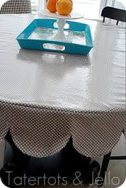 How To Make A Table Skirt by Vinyl Tablecloth Tutorial Also Made A Thin Clear Vinyl Tablecloth