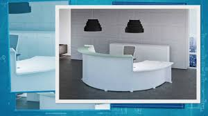 Esquire Glass Top Reception Desk White Curved Reception Desk Youtube