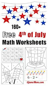 160 fourth july printable math worksheets