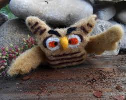 felt owl ornament etsy