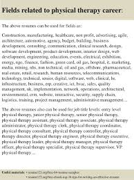 Sample Resume For Physical Therapist Assistant by Top 8 Physical Therapy Resume Samples
