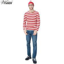 where s waldo costume where s wally waldo now white stripe costume shirt