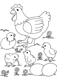 little and hen farm animal coloring pages free animal