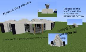 modernday houses modern day homes minecraft project