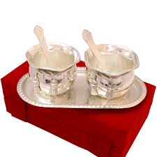 silver gift items silver coloured bowl set made of german silver boontoon
