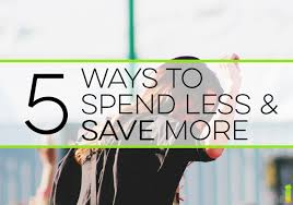 5 ways to spend less and save more frugal