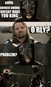 Aragorn Meme - how aragorn deals with trolls by flashbulbproductions on deviantart