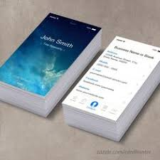 a collection of unique iphone business card designs design