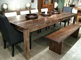 table et cuisine table cuisine bois brut rustique grange avec banc sur mesure 1030