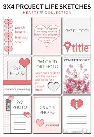 3 4 project life sketches for pocket scrapping lisa moorefield