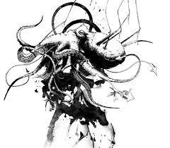 atelier kraken on behance guitar cthulhu octopus sketches
