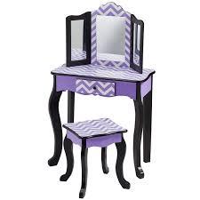 Vanity And Stool Set Teamson Kids Fashion Prints Chevron Vanity Table And Stool Set
