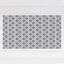honeycomb pattern area rug geometric grey area rug mid