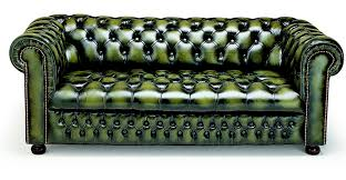 Chesterfield Sofa Used Brilliant Green Leather Chesterfield Sofa Green Leather
