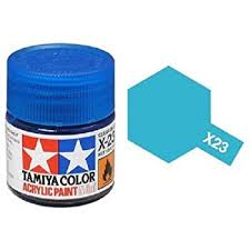 amazon com tamiya models x 23 mini acrylic paint clear blue