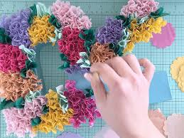 floral printed tissue paper wrap diy tissue paper flower letters the budget savvy