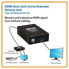 amazon com tripp lite hdmi over cat5 cat6 extender extended