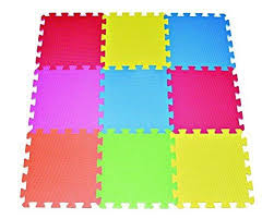 Tiles Photos by Amazon Com Poco Divo Floor Mat 9 Tile Multi Color Exercise Mat