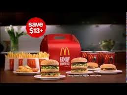 mcdonalds family dinner box australian ad 2011