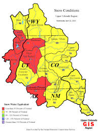 colorado snowpack map colorado river snowpack faring better than s but not by
