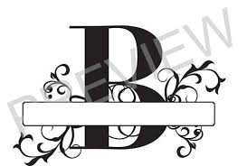 monogram letter b split monogram svg letter b regal split alphabet vector files