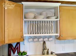 Kitchen Cabinet Plate Rack Storage Remodelaholic Upgrade Cabinets By Building A Custom Plate Rack Shelf