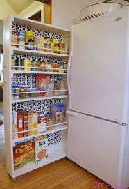 diy kitchen pantry ideas diy space saving rolling kitchen pantry hometalk
