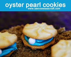 seashell shaped cookies edible craft oyster pearl cookies see craft