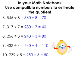math 5 estimating division ppt download