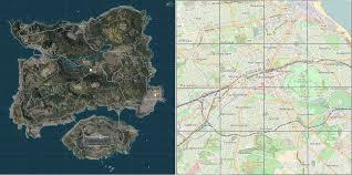 pubg erangel scale comparison of erangel and edinburgh pubattlegrounds
