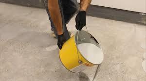 easy how to diy epoxy on garage floor part 5 applying the epoxy