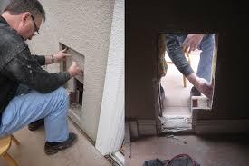 Doggy Doors For Sliding Glass Doors by Backyards Door Install Dog Installation In Garage Wall Brick