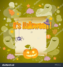 halloween background image halloween background paper scroll ghost stock vector 86641141