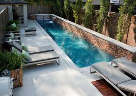 Pool In The Backyard by Swimming Pool In A Minimalist Home House Design Ideas