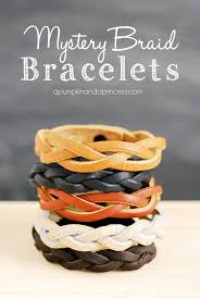 bracelet patterns leather images Mystery braid bracelet tutorial a pumpkin and a princess jpg