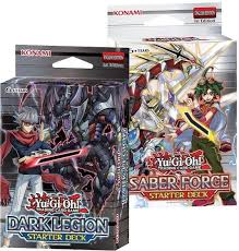 konami yu gi oh saber force u0026 dark legion starter deck box da