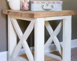 Rustic Side Table Living Room Table Etsy