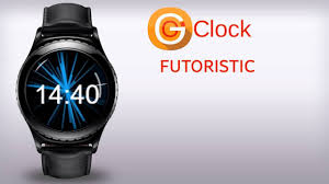 gear o u0027clock futuristic watch face for samsung gear s2 and