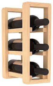 wine racks america pine 3 bottle countertop wine rack