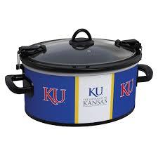 Kansas slow travel images Jayhawks collegiate crock pot cook carry slow cooker jpg