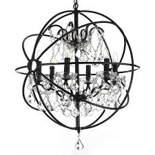 Extend A Finish Chandelier Cleaner Foucault U0027s Orb Crystal Iron 6 Light Chandelier Free Shipping