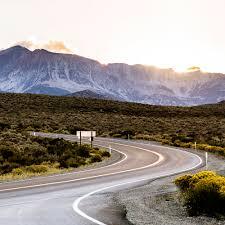 amazing sierra nevada mountains road trip sunset