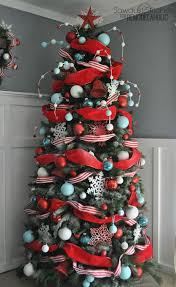 tree decoration ideas of decorated flocked