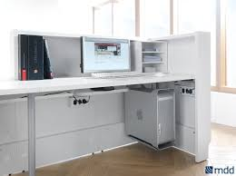 Bradford Desk Contemporary Front Desk Glass Reception Desk Design Office