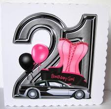 21 Birthday Card Design 21st Birthday Large Shaped Card Front Female Cup364655 1072