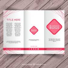 brochure templates for business free download pink business brochure template vector free download