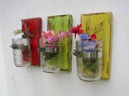 Vase Wall Sconce Shabby Chic Rustic Wooden Vases Sconce Mason Jar Wood Vase Wall