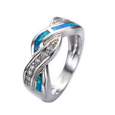 White Gold Wedding Rings For Women by Opal Engagement And Wedding Jewelry Ebay